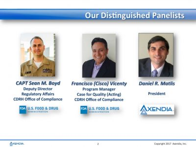 FDA Discusses Driving a Culture of Change for Devicemakers Webinar